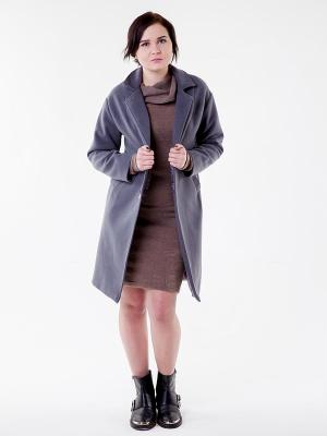 Пальто серое Glam Goddess. Цвет: серый