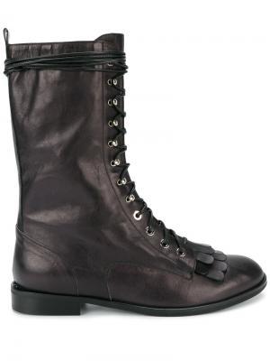 Ботинки на шнуровке Kiltie Liudmila. Цвет: чёрный