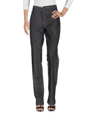 Джинсовые брюки ANGELO MARANI. Цвет: стальной серый