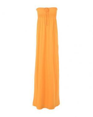 Длинное платье PATRIZIA PEPE. Цвет: желтый