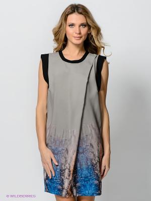 Платье Vero moda. Цвет: серо-зеленый, оранжевый, синий