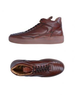 Высокие кеды и кроссовки PANTOFOLA D'ORO. Цвет: какао