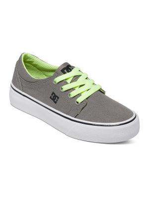Кеды DC Shoes. Цвет: бежевый, белый, зеленый