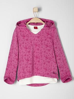 Толстовка S.OLIVER. Цвет: розовый, молочный
