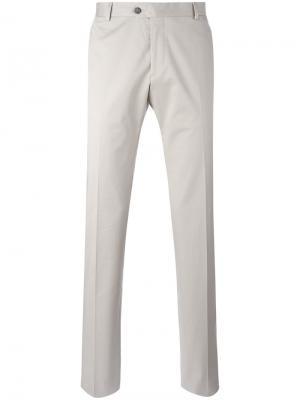 Классические брюки Tonello. Цвет: телесный