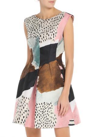 Платье PHILOSOPHY. Цвет: белый, розовый