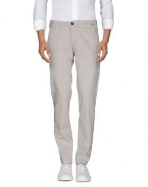 Повседневные брюки MONOCROM. Цвет: светло-серый