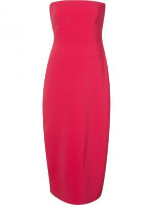 Платье без бретелек Nicole Miller. Цвет: розовый и фиолетовый