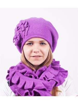 Шапка; шарф MARIELA. Цвет: сиреневый