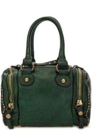 Маленькая кожаная сумка зеленого цвета Campomaggi. Цвет: зеленый