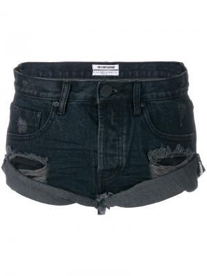 Джинсовые шорты с эффектом потертости One Teaspoon. Цвет: чёрный