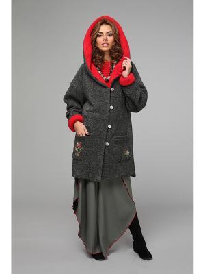 Пальто KATA BINSKA. Цвет: серый, красный
