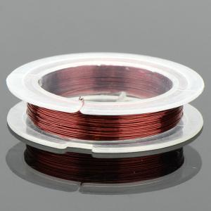 Проволока для бисероплетения 0,3 мм х 10 м, арт. ФПР-03 Бусики-Колечки. Цвет: малиновый