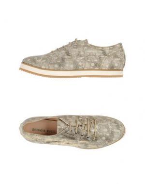 Обувь на шнурках DANIELE TUCCI. Цвет: серебристый