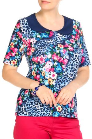 Блуза LAVELLE. Цвет: синий