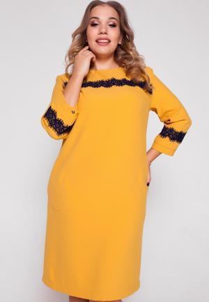 Платье Eliseeva Olesya. Цвет: желтый