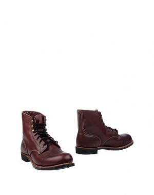 Полусапоги и высокие ботинки RED WING SHOES. Цвет: красно-коричневый