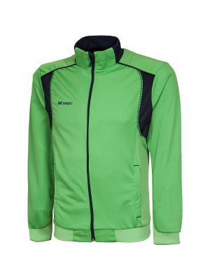 Олимпийка Vettore 2K. Цвет: светло-зеленый, темно-синий