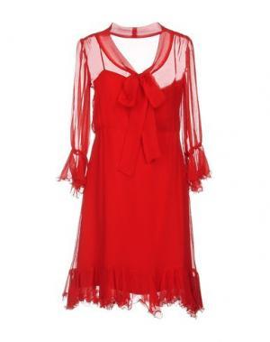 Короткое платье LUISA BECCARIA. Цвет: красный