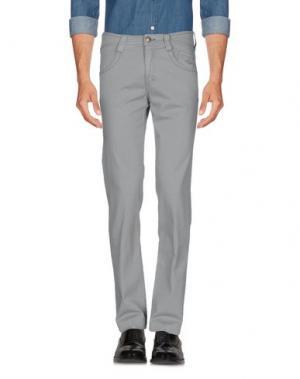 Повседневные брюки CARLO CHIONNA. Цвет: светло-серый