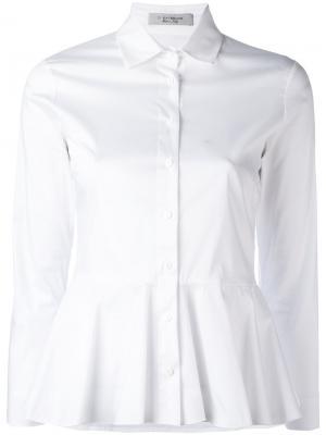 Рубашка с баской D.Exterior. Цвет: белый