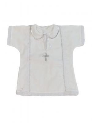 Крестильная рубашка Дашенька. Цвет: белый, серебристый