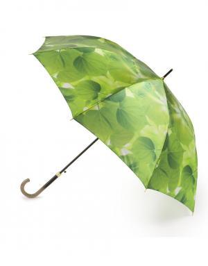 Зонт-трость автомат Летние листья Henry Backer. Цвет: зеленый