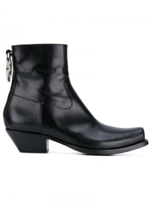 Ring ankle boots Vetements. Цвет: чёрный