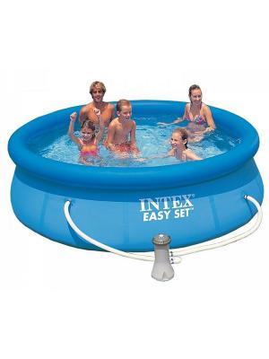 Бассейн Easy Set (надувной верх) 3,05х0,76 м + фильтр-насос 220в. Intex. Цвет: голубой