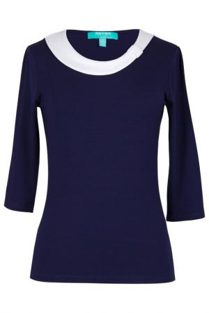 Блуза FEVER LONDON. Цвет: navy, cream