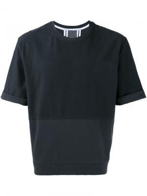 Свободная футболка Lot78. Цвет: синий