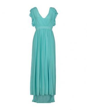 Длинное платье TRY ME. Цвет: бирюзовый