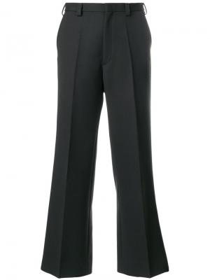 Строгие брюки клеш Maison Margiela. Цвет: зелёный