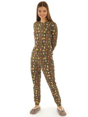 Пижама ТВОЕ. Цвет: коричневый