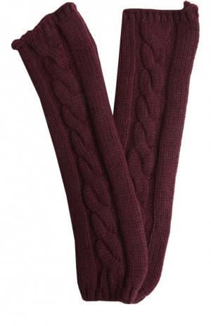 Вязаные митенки из кашемира Kashja` Cashmere. Цвет: бордовый