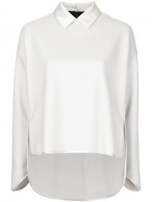 Contrast collar shirt The Reracs. Цвет: белый