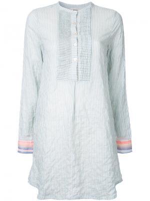 Платье-рубашка в полоску Lemlem. Цвет: синий