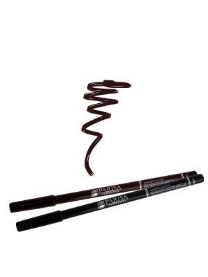 Набор карандашей для глаз 2 шт. Тон черный плюс 510 Темно-коричневый Parisa. Цвет: темно-коричневый