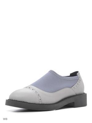 Туфли Pixy. Цвет: серый