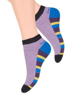 Носки женские Steven. Цвет: черный, синий, фиолетовый