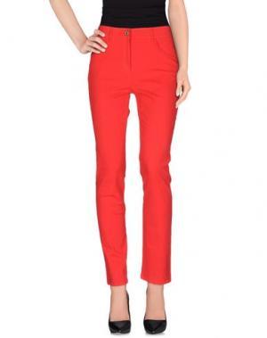 Повседневные брюки PAUSE CAFÉ. Цвет: красный