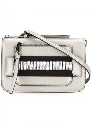 Декорированная сумка через плечо Madison Marc Jacobs. Цвет: телесный