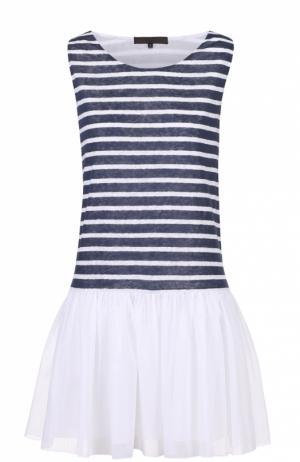 Платье свободного кроя в контрастную полоску Tegin. Цвет: разноцветный
