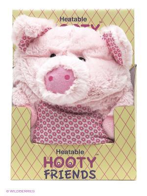 Игрушка-грелка Поросенок (hooty friends) Warmies. Цвет: розовый