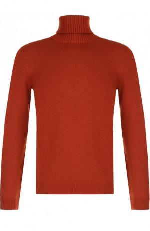 Кашемировый свитер с воротником-стойкой Brioni. Цвет: оранжевый