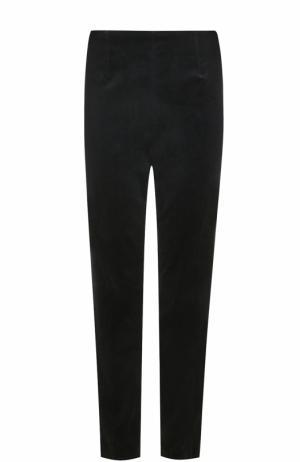 Бархатные брюки прямого кроя Escada. Цвет: черный