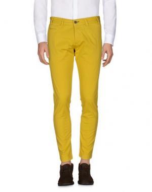 Повседневные брюки ALV ANDARE LONTANO VIAGGIANDO. Цвет: охра