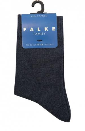 Носки из хлопка Falke. Цвет: синий