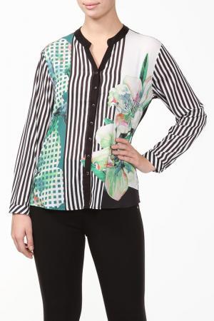 Блуза Grandi. Цвет: черный, зеленый