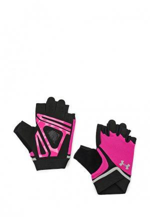 Перчатки для фитнеса Under Armour. Цвет: фуксия